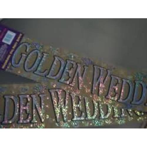 Golden Wedding Banner