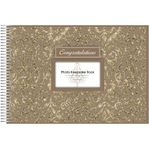 Keepsake Book Congratulations Gold