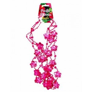 Pink Flower Beaded Necklace 3pk