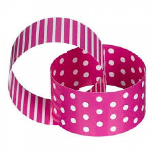 Paper Chain Pink & White Dots & Stripes
