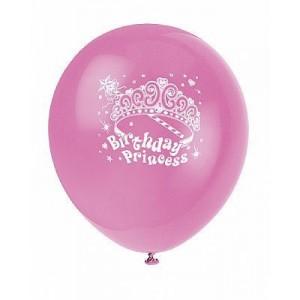 Party Princess Balloons 8pk