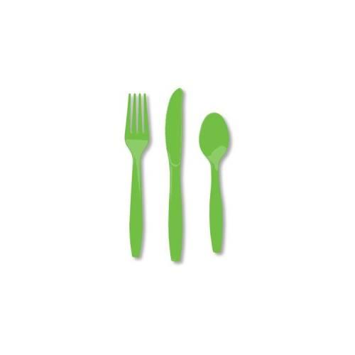 Plastic Lime Forks 20pk