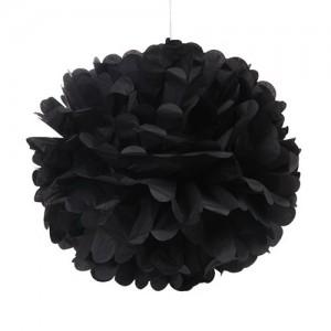 Tissue Paper Pom Pom - Black