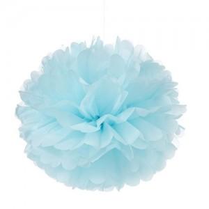 Tissue Paper Pom Pom - Pale Blue