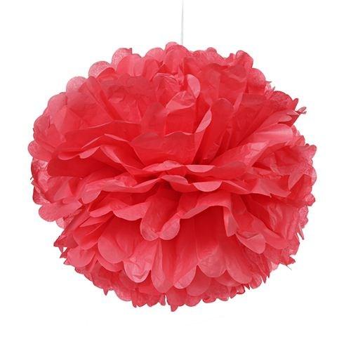 Tissue Paper Pom Pom 45cm - Coral