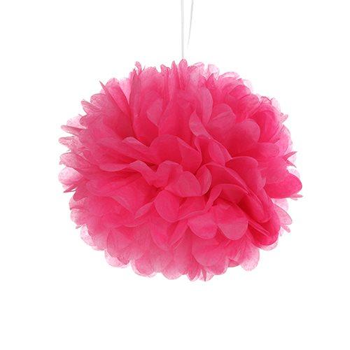 Tissue Paper Pom Pom - Hot Pink