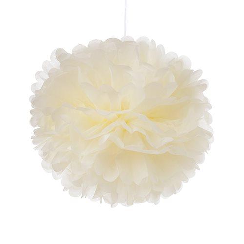 Tissue Paper Pom Pom - Ivory