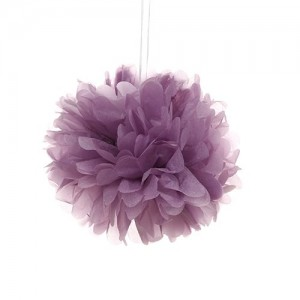 Tissue Paper Pom Pom 30cm - Purple