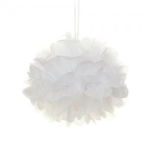 Tissue Paper Pom Pom - White 45cm