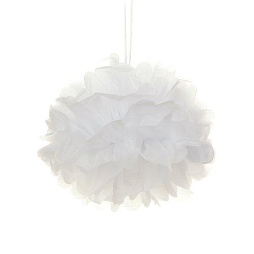 Tissue Paper Pom Pom 30cm - White