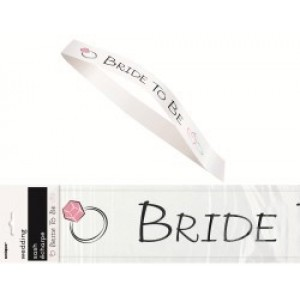 Bride to Be Sash - White