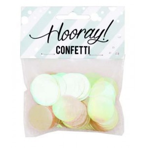 Scatter Confetti Iridescent Circles Large