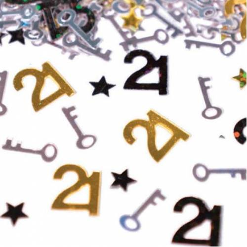 Scatter Confetti 21 Key Gold Numbers