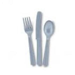 Plastic Silver Spoons 25pk