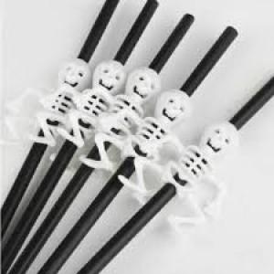 Halloween- Skeleton Straws 6pk