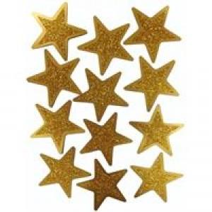 Awards Night Gold Glitter Stars 12pk