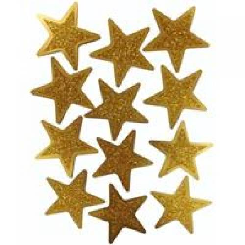 Awards Night Gold Glitter Stars 12pk