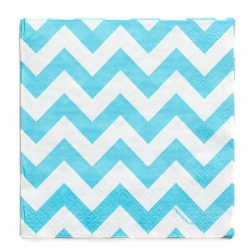 Lunch Napkins 15pk - Chevron Blue