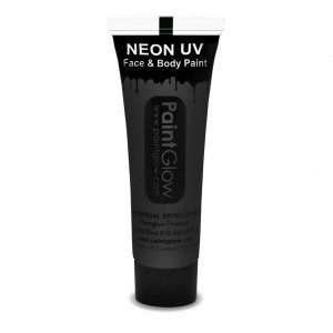 UV Face & Body Paint 10ml - Black