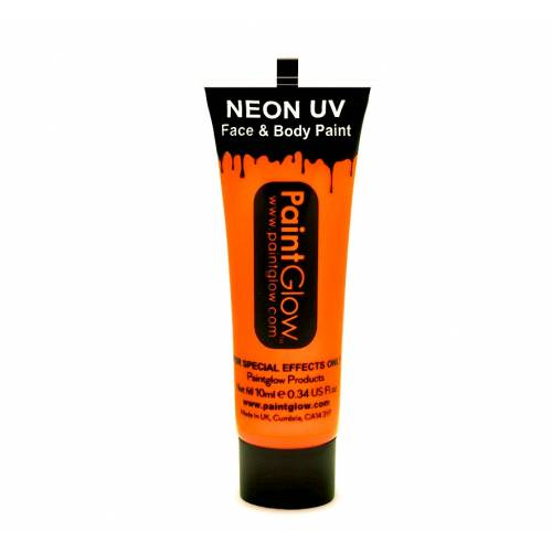 UV Face & Body Paint 10ml - Neon Orange