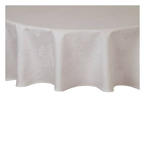 Linen Table Cloth, Round 3.3m White