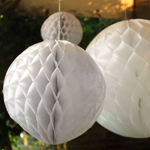 Honeycomb Ball White 20cm