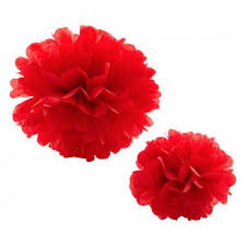 Tissue Paper Pom Pom 45cm - Red