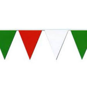 Bunting Flag Banner Red, White & Green 3.6m
