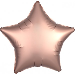 Foil Balloon Luxe Rose Copper Star