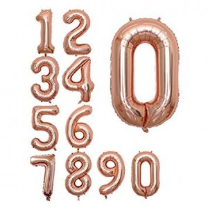 Foil Balloon Number Rose Gold