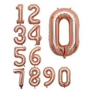 Foil Balloon Number Rose Gold