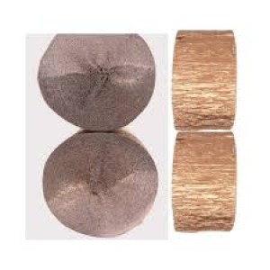 Crepe Streamers Shimmering  Rose Gold 6pk