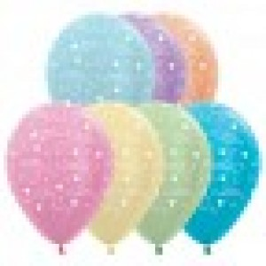 Anniversary Satin Pearl Assortment Latex Balloons