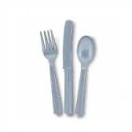 Plastic Silver Knives  25pk