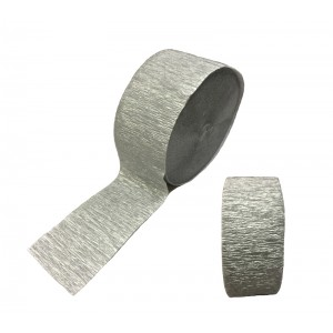 Crepe Streamers Shimmering silver