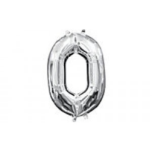 Foil Balloon Number Silver