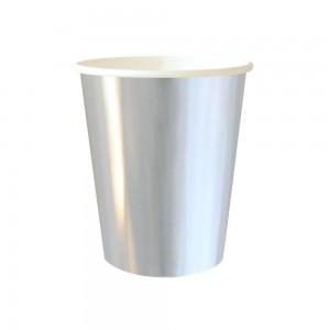 Silver Foil Paper Cups 8pk