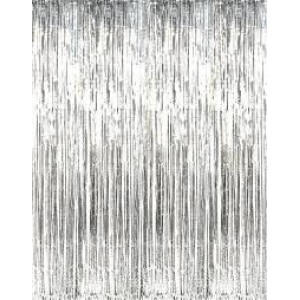 Foil Fringe Curtain Silver 910mm x 2.4m