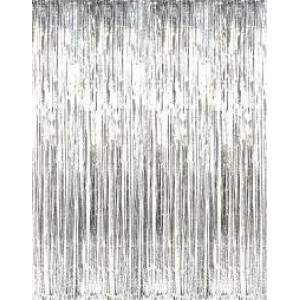 Foil Fringe Curtain Silver 910mm x 2.4m