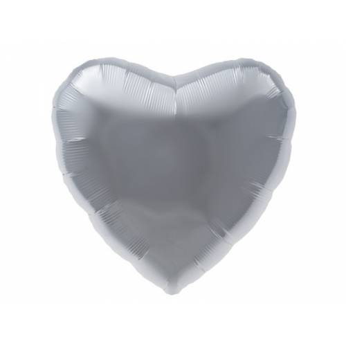 Foil Balloon Silver Heart