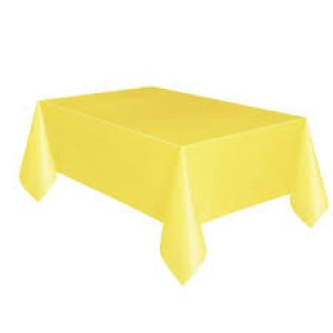 Table Cover Rectangle - Soft Yellow