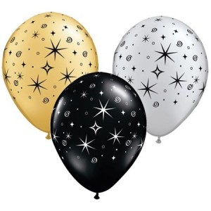 Balloon Single Sparkle & Swirl Assorted