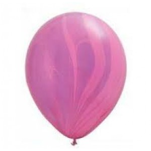 Balloon Single Pink/Violet Marble