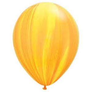 Balloon Single Yellow/Orange Marble