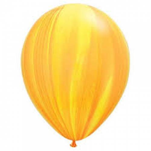 Balloon Single Yellow/Orange Marble
