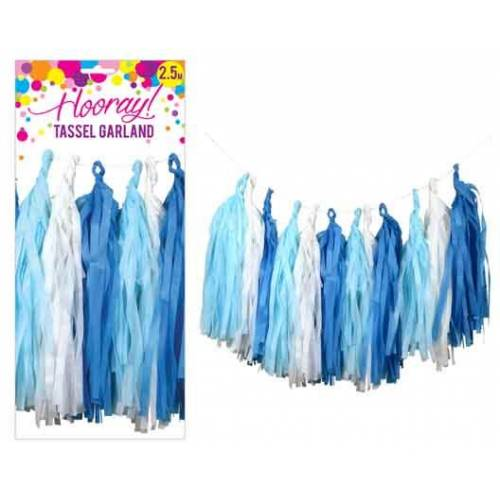 Tassel Garland - Blue & White
