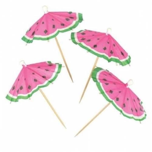 Watermelon Cocktail Parasols/Umbrellas 20pk