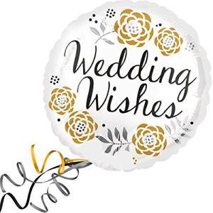 Foil Balloon Wedding Wishes