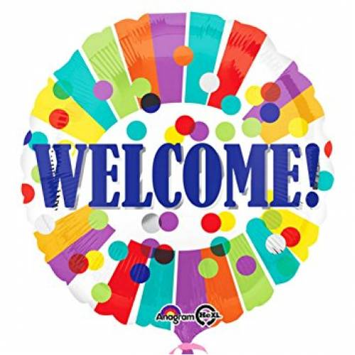 """Foil Balloon 18"""" Welcome"""