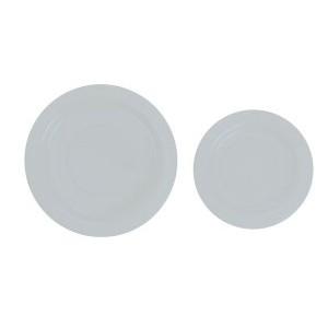 Plastic Plate 23cm White
